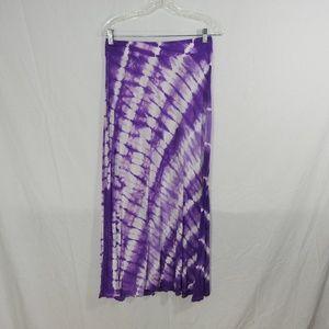 INC Beach Tie Dye Long Skirt Size Medium